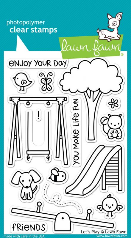 LF0848 ~ LETS PLAY ~ CLEAR STAMPS BY LAWN FAWN